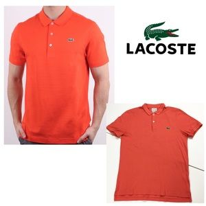 Lacoste Orange Polo Shirt